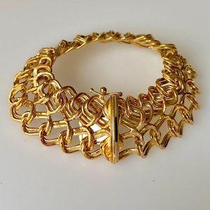 Vintage 14k 20mm Wide Chain Link Bracelet 15g